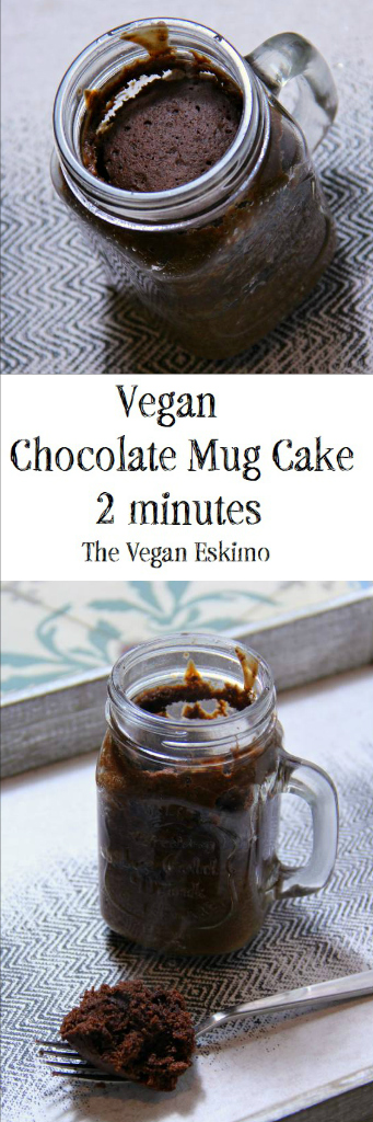 Vegan Chocolate Mug Cake in 2 Minuted - The Vegan Eskimo