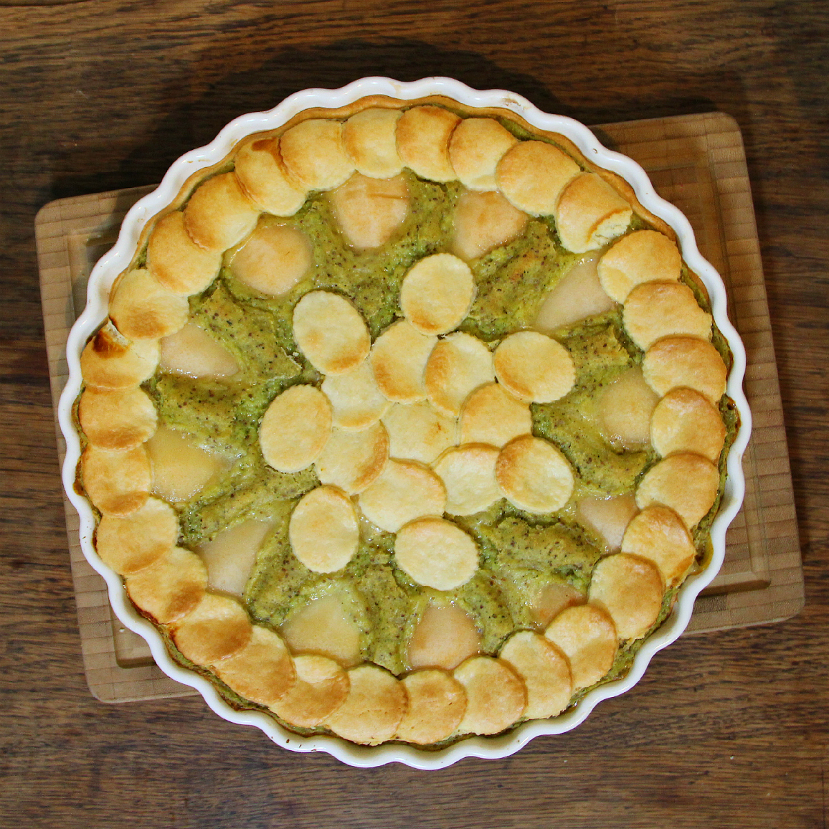 Vegan Pear Zucchini Tahini Tart - The Vegan Eskimo