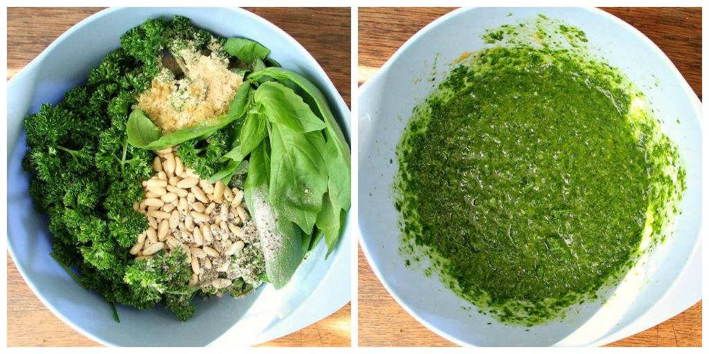 Vegan Parsley Basil Pine Nut Pesto - The Vegan Eskimo