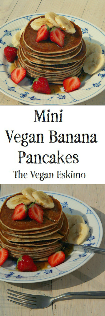 Mini Vegan Banana Pancakes - The Vegan Eskimo