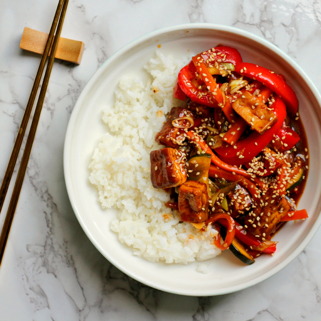 Orange Hoisin Glazed Tofu and Veg - The Vegan Eskimo