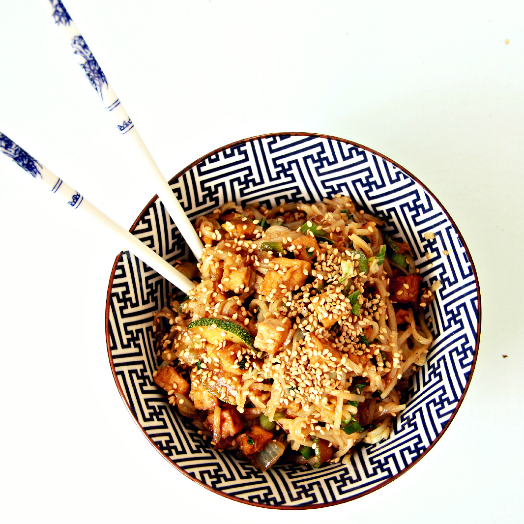 Vegan tofu zucchini stir fry - The Vegan Eskimo