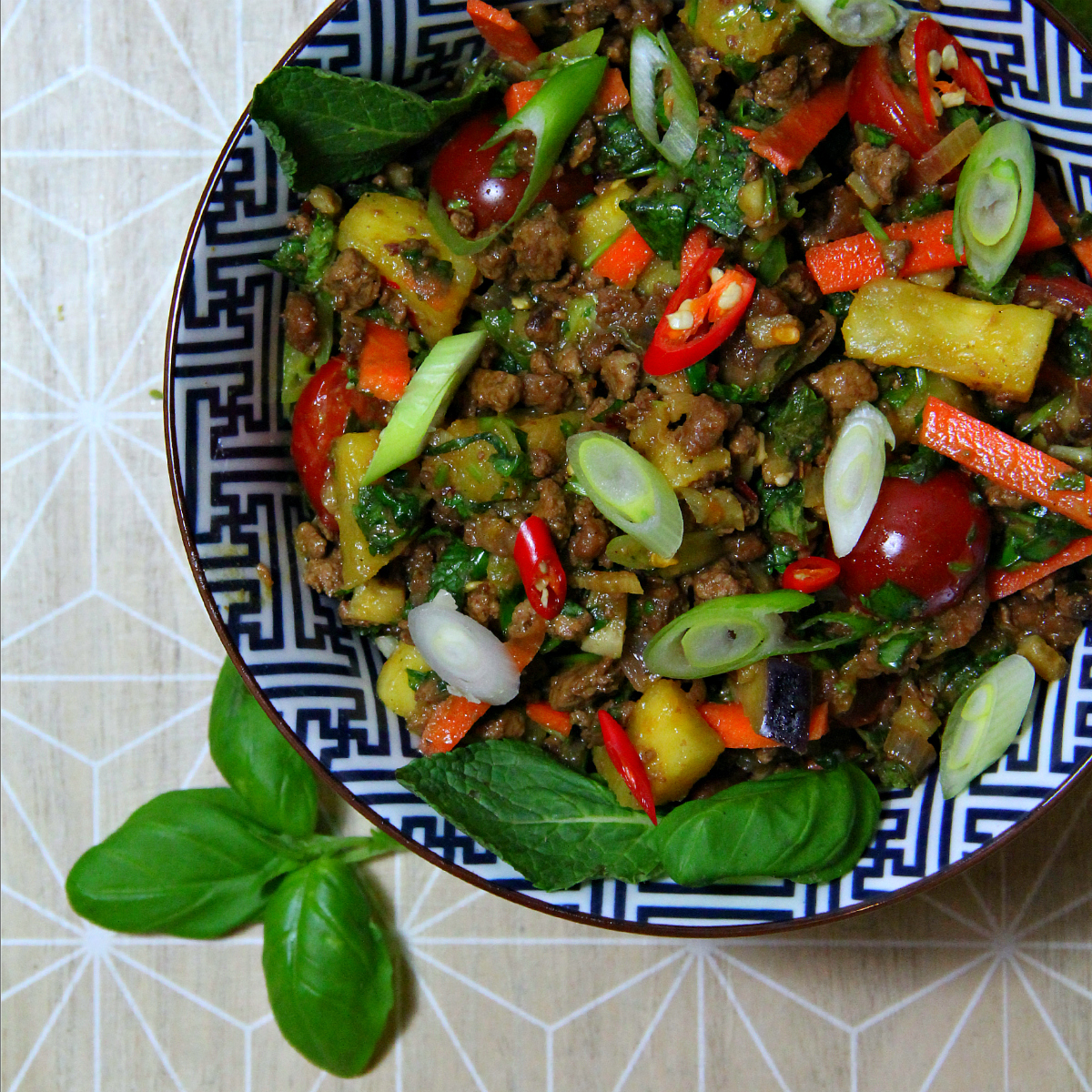 Vegan Lao Laab / Larb - The Vegan Eskimo