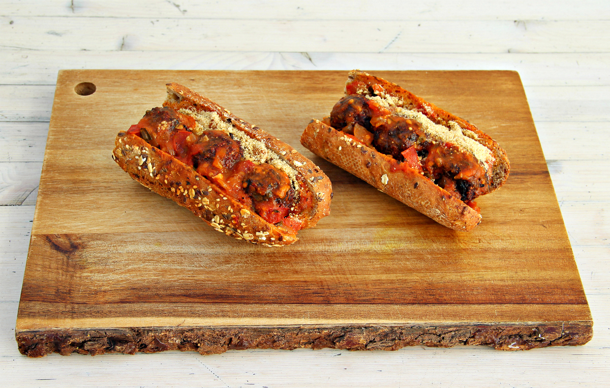 Vegan Meatless Meatball Sub - The Vegan Eskimo