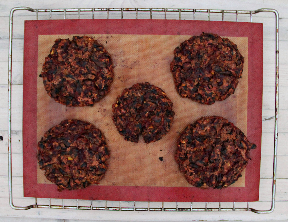Vegan Mushroom Beet Root Soy Granule Burgers - The Vegan Eskimo