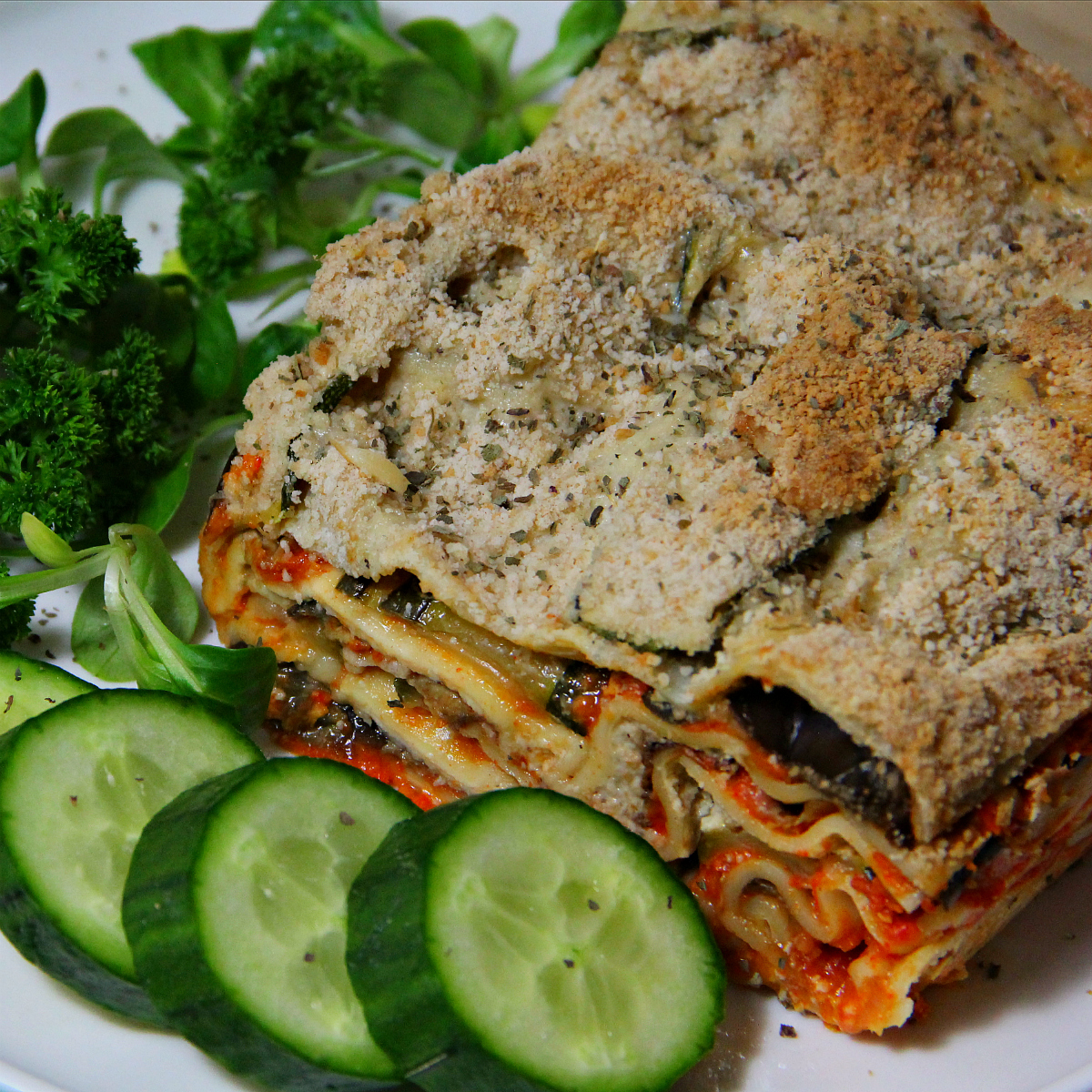 Vegan Ratatouille Lasagna - The Vegan Eskimo