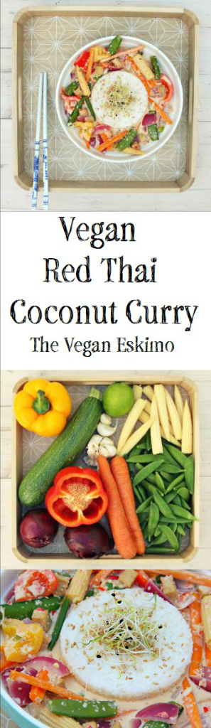 Vegan Red Thai Coconut Curry - The Vegan Eskimo