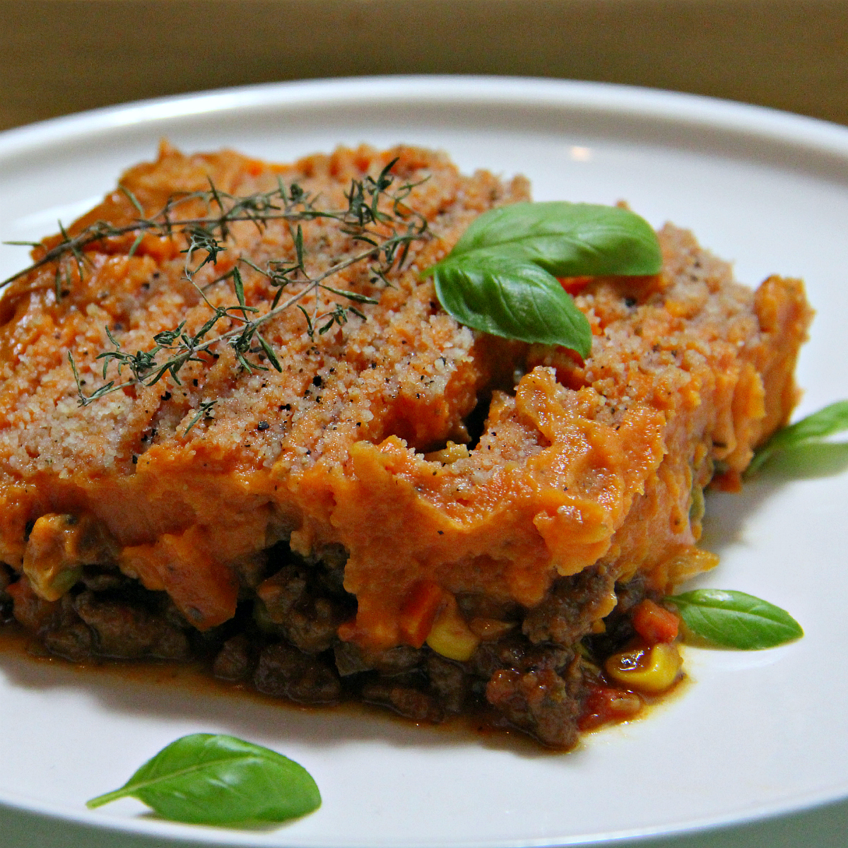 Vegan Shepherd's Pie Sweet Potato Mash - The Vegan Eskimo