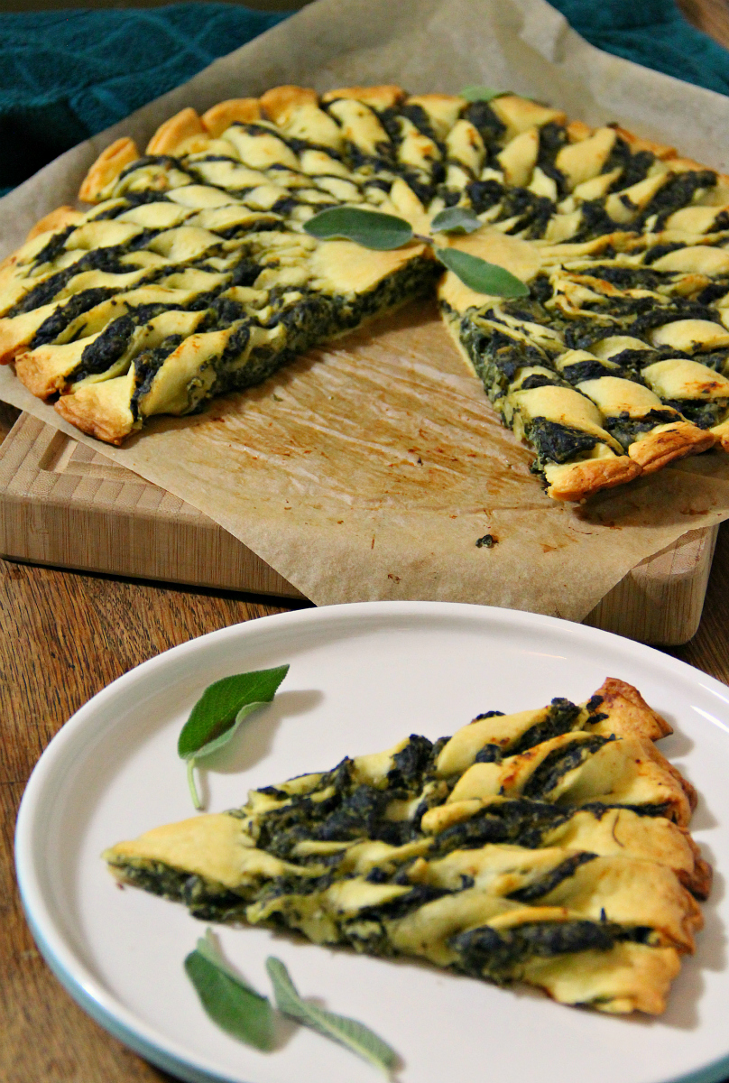 Vegan Tofu Spinach Quiche Tarte Soleil - The Vegan Eskimo
