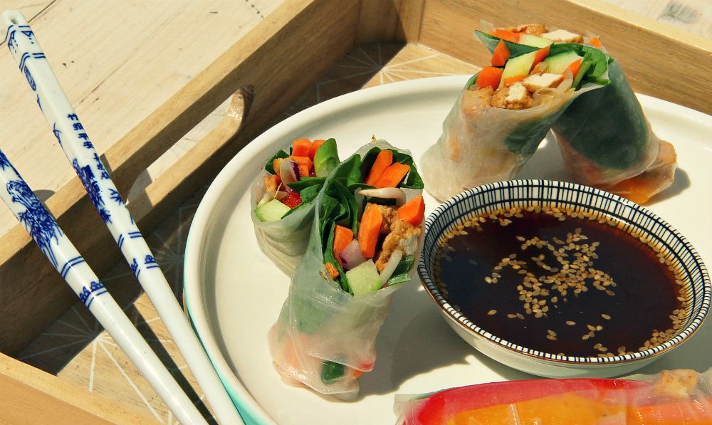 Vegan Vietnamese Summer Spring Rolls - The Vegan Eskimo