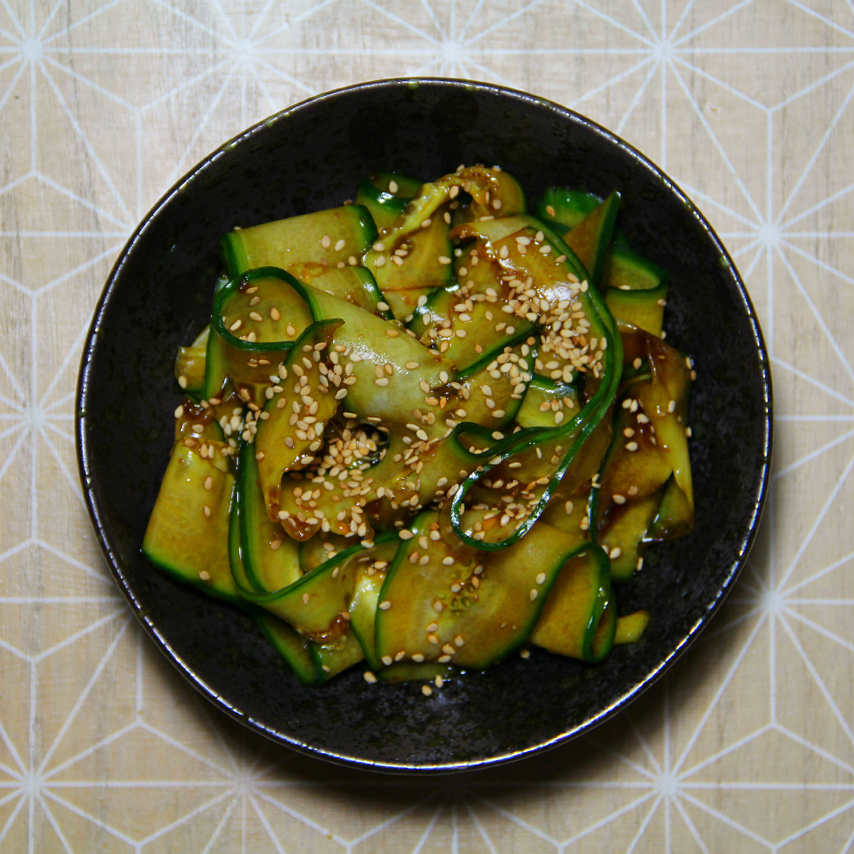 Asian Style Cucumber Salad in Strips - The Vegan Eskimo