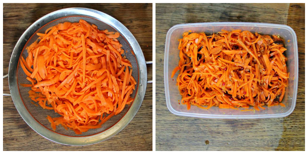 Quick Pickled Carrot Noodles - The Vegan Eskimo