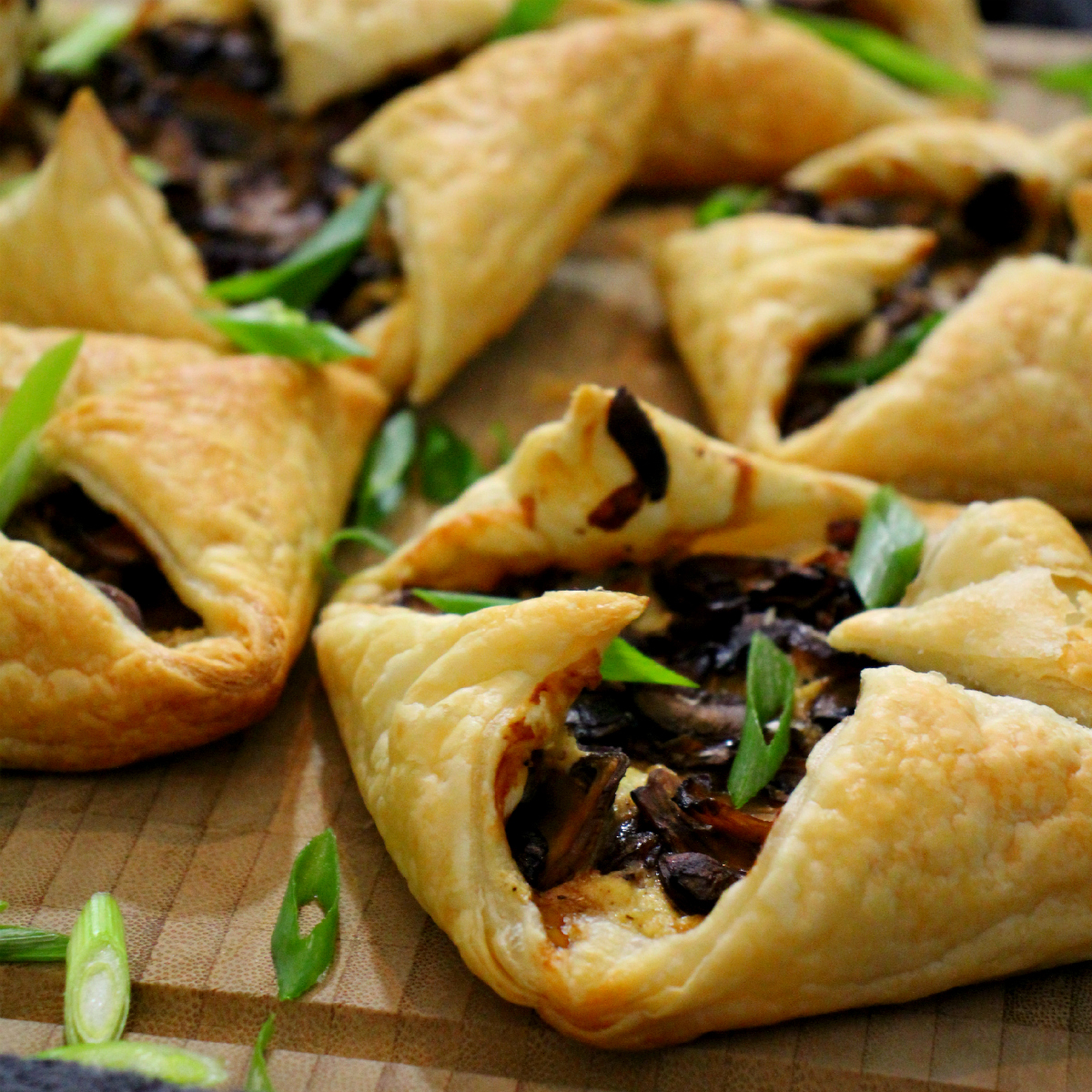 Vegan Mushroom Quiche Puff Pastry Folds - The Vegan Eskimo