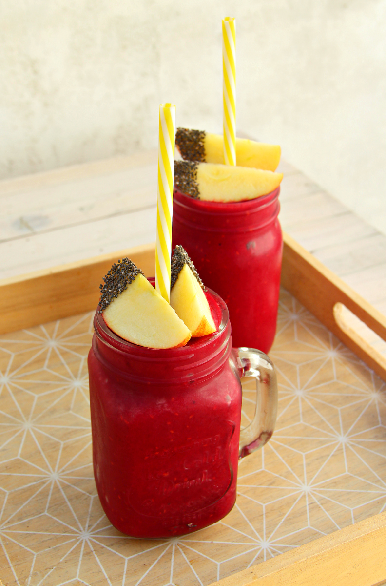 Crimson Red Beet Root Raspberry Ginger Smoothie - The Vegan Eskimo