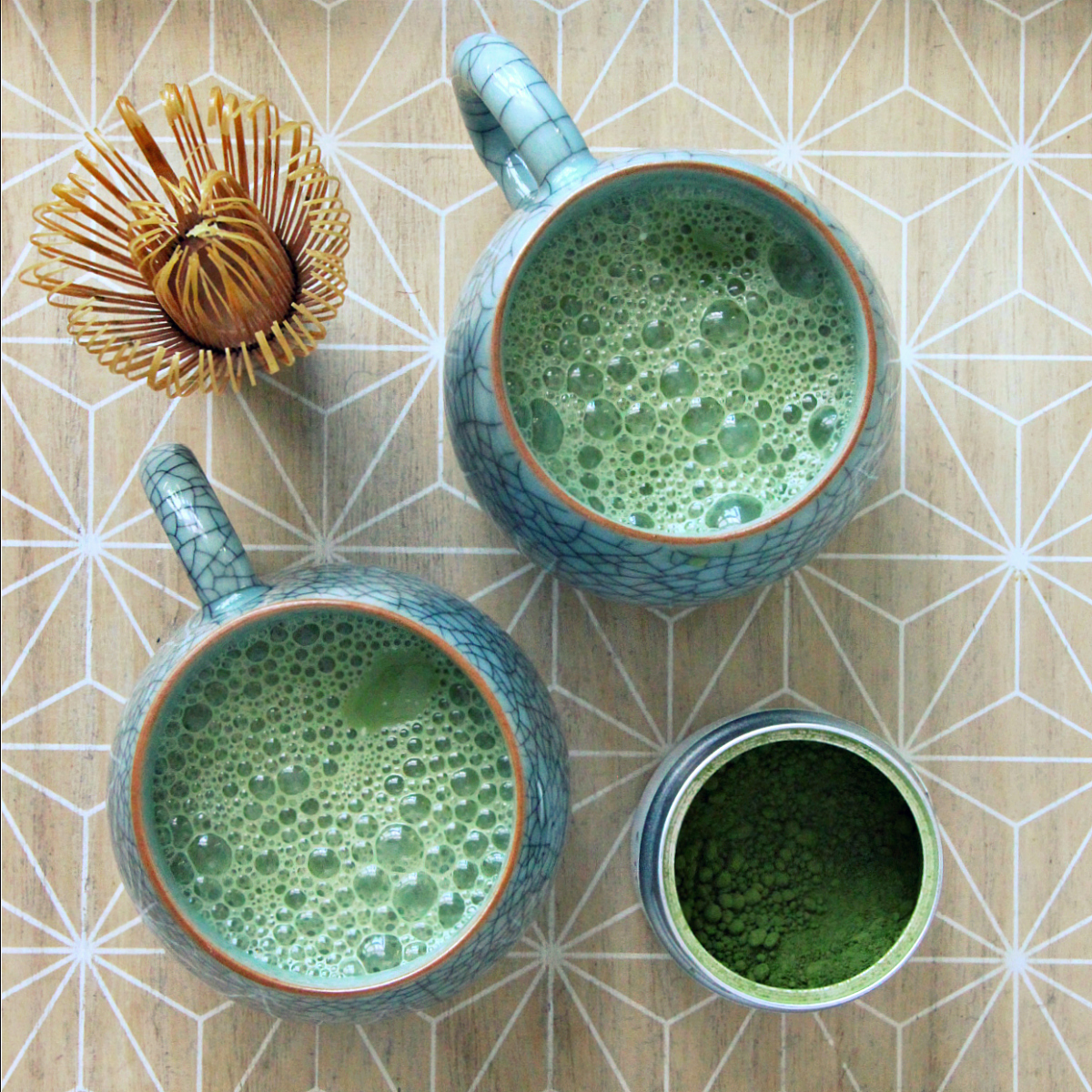 Vegan Vanilla Matcha Latte - The Vegan Eskimo